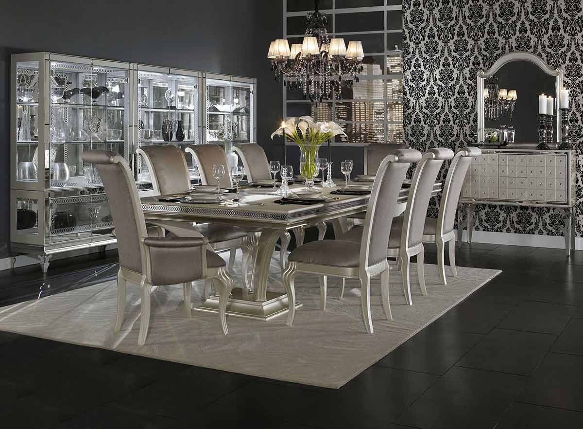 Hollywood Swank Dining Room from Catrina's Ranch Interiors