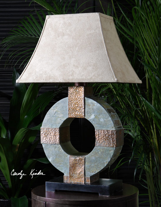 Slate table lamp from Catrina's Ranch Interiors