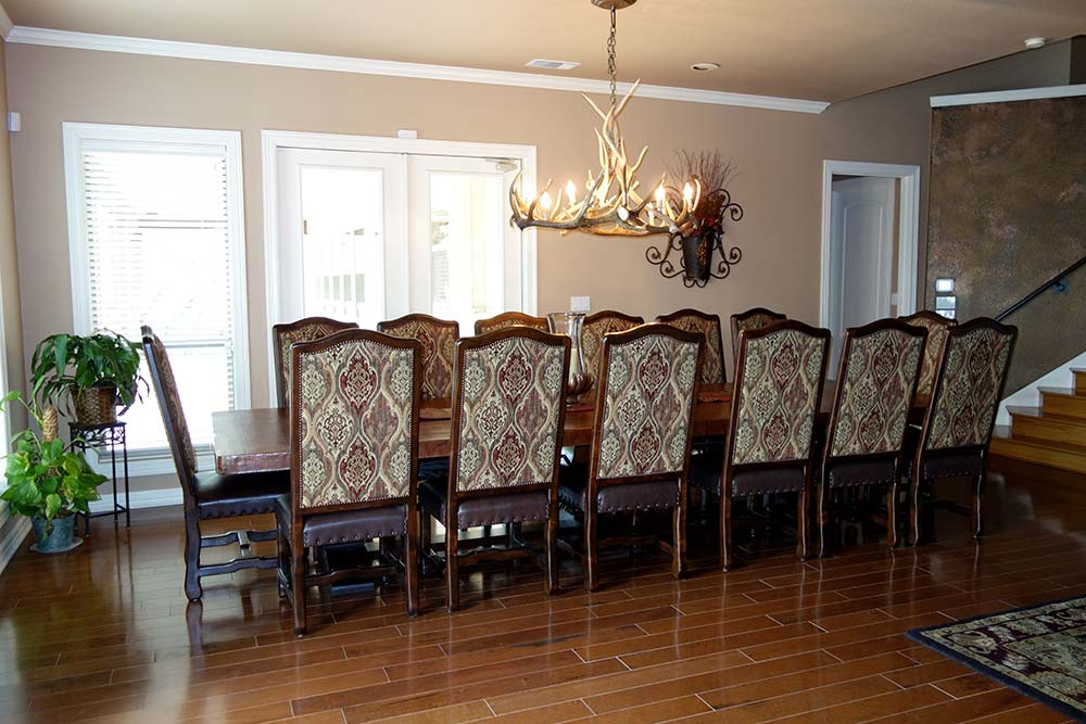 Ranch House Copper Dining Table and Chairs