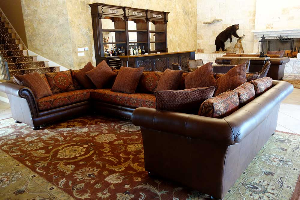 Ranch House Design Sectional Furniture and Saloon Bar