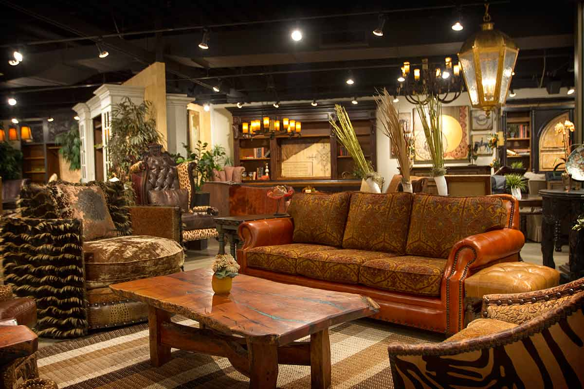 Catrina's Ranch Interiors Showroom, Texas Hill Country Leather Interiors