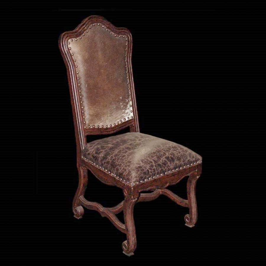 Sienna Brown Hide and Leather Chair